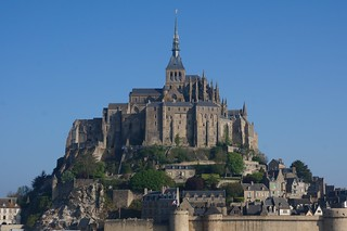 Mont St Michel in clearer light