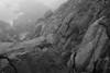 looking down, fog, rocky outcroppings, near Norton's Ledges, Monhegan, Maine, Sony A7II, 5.19.15 by steve aimone