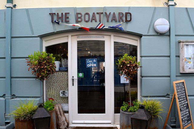 Lunch at The Boatyard, Isle of Man