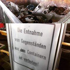 Wat soll ich denn in dem Müllcontainer? #MVA #Bonn
