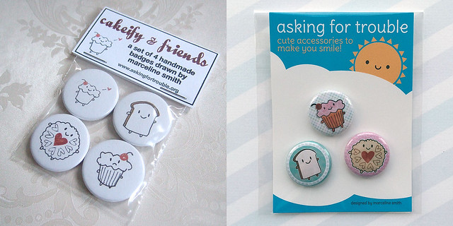 7 years at Folksy - Cakeify badges then and now