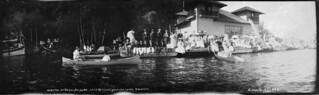 Regatta on Lake Rosseau, Muskoka Lakes, Ontario, ca. 1900 / Régate sur le lac Rosseau, près de Muskoka Lakes, en Ontario, vers 1900