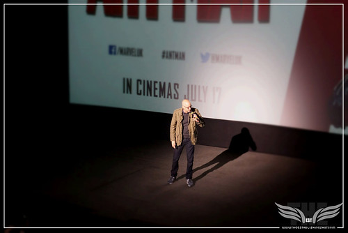 The Establishing Shot: DIRECTOR PEYTON REED WECOMES PAUL RUDD TO THE STAGE AT A SCREENING OF MARVEL'S ANT-MAN IN LONDON