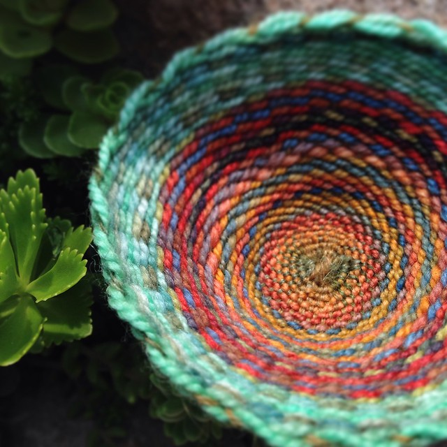 Circle Loomed Yarn Bowls