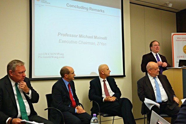 Tom Bolt, Dir. Lloyd's,  Martin Huddleston, DSTL, Adrian Leppard, Commissioner, City of London Police, Prof Michael Mainelli, ExecChairman, Z/Yen Group  Hugh Morris, Tori Global  at Cyber prosperity from RAW _DSC1009