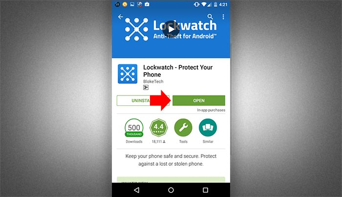 How to setup lockwatch