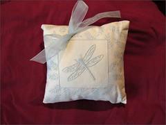 Blue Mist Dragonfly pillow