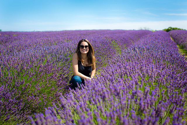Adriana at the Lavender farm