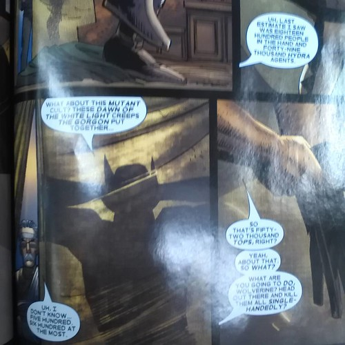 Never ask Wolverine a rhetorical question #wolverine #hydra #enemyofthestate #markmillar #johnromitajr
