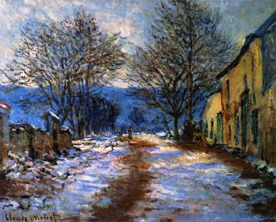 The Effect of Snow at Limetz by Claude Oscar Monet - 1886