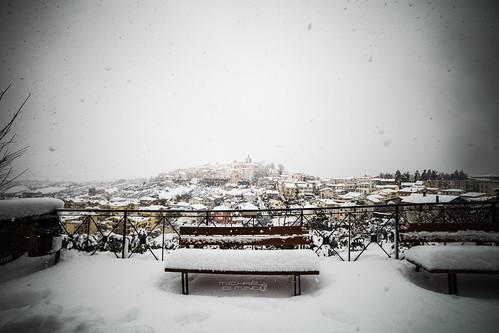 Spoltore sotto la neve