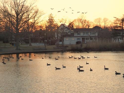 silverlakepark sunset winter baldwin nassaucounty newyorkstate