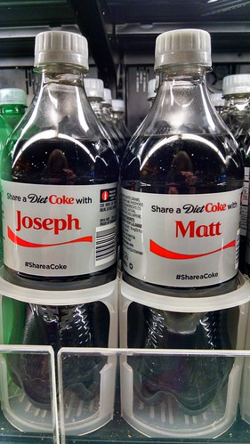 Named Coke Bottle