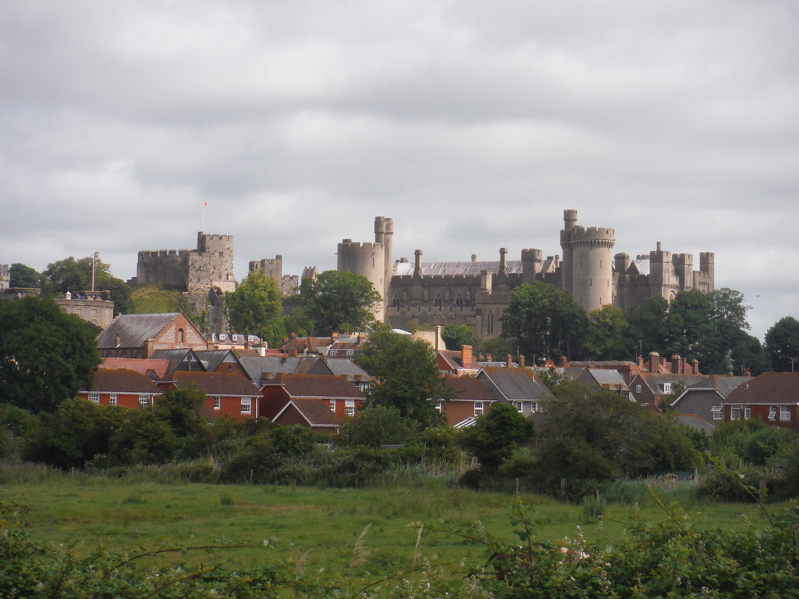 Arundel from the A-Road SWC Walk 217 Midhurst Way: Arundel to Midhurst