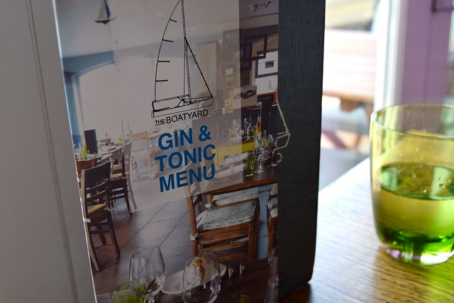 Gin & Tonic Menu at The Boatyard, Isle of Man