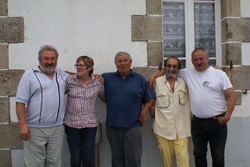 12/07/2015 - Kerlanguis (Kermouster en Plougasnou) : Les finalistes du concours en doublettes mêlées