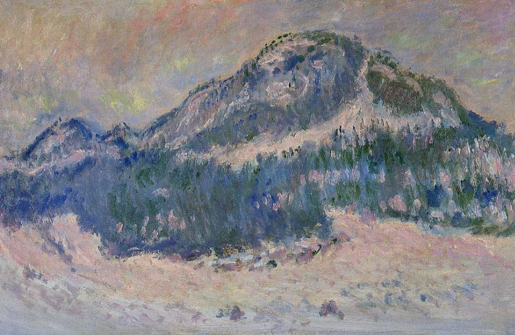 Mount Kolsaas, Rose Reflection by Claude Oscar Monet - 1895