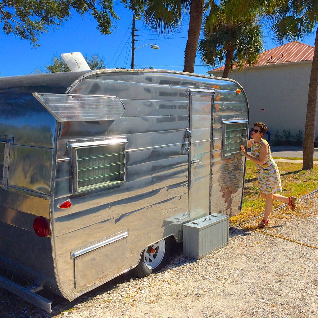 Canned Ham Vintage Sarasota FL Florida Retro Roadmap