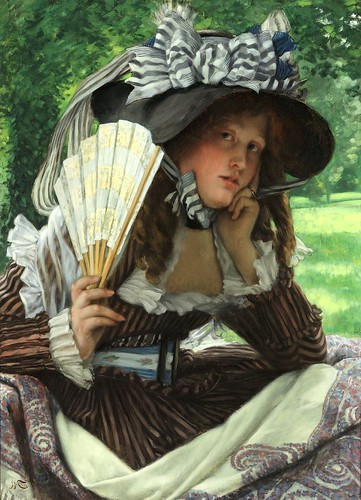 tissot, james jacques - Young Lady with a Fan