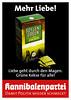 Kannibalenpartei: Mehr Liebe!