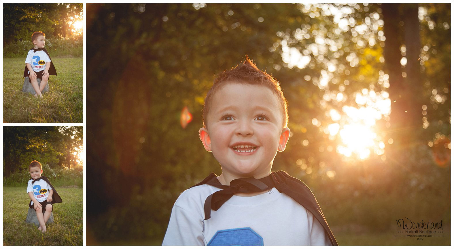 Bucks County PA Photographer Superhero 3rd Birthday Pose Ideas | WonderlandPortrait.com