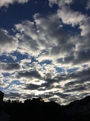 Sunday morning skies 6/28/15 #skies #clouds #blue #white #sunrise