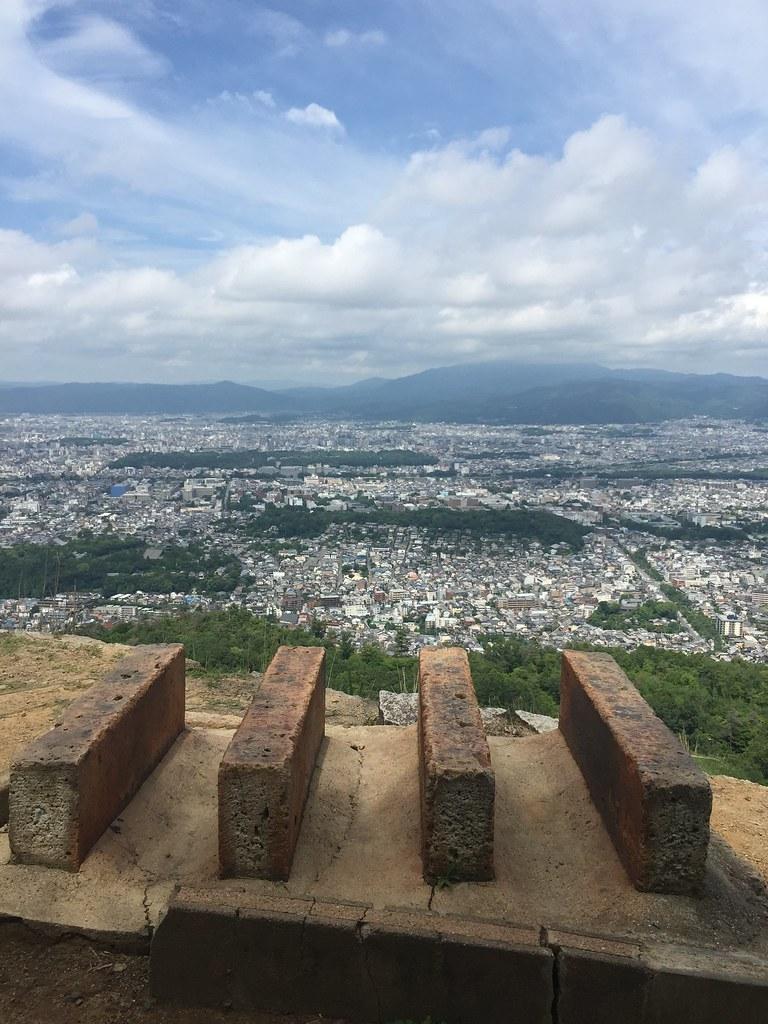 京都大文字山から京都市街