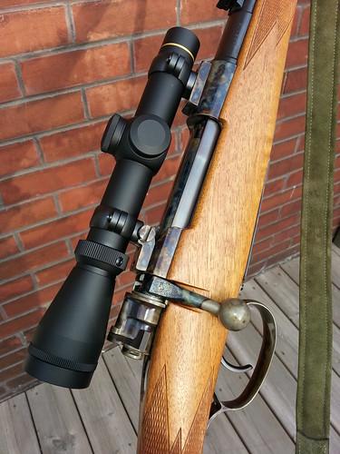 Custom Brno model 21H in 7x57 -- right side action, Leupold VX-2 scope