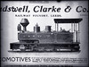 "Advertisewment for ""The Railway Foundry, Leeds (UK.) showing C.S.R. locomotive [n.d.."