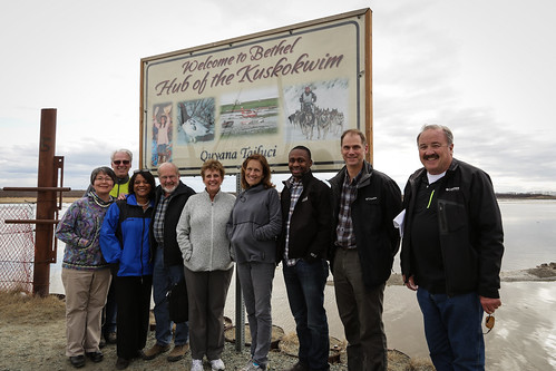 Michael Mathews (third from right) with the Rural Development team on a recent visit to Alaska.
