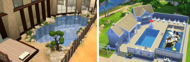 The sims 4 building your perfect outdoor pool simsvip for Pool designs sims 4