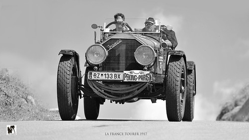 American La France Tourer 1917 Peking to Paris Ennstal-Classic (c) 2015 Бернхард Эггер Bernhard Egger :: ru-moto images 7123 mono