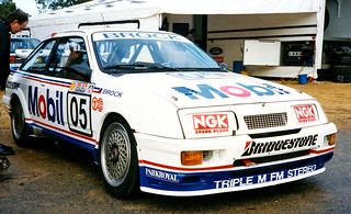 24 Jun 1990 - Peter Brock's round winning, Ford Sierra Cosworth RS500 [05] during the Australian Touring Car round held at Barbagallo Raceway, Wanneroo, Western Australia