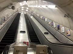 Disused escalators from the Charing Cross Jubilee line platforms