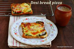 Indian style bread pizza