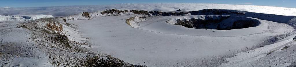 Panorama of the Northern Icefield, Reusch Crater and Ash Pit