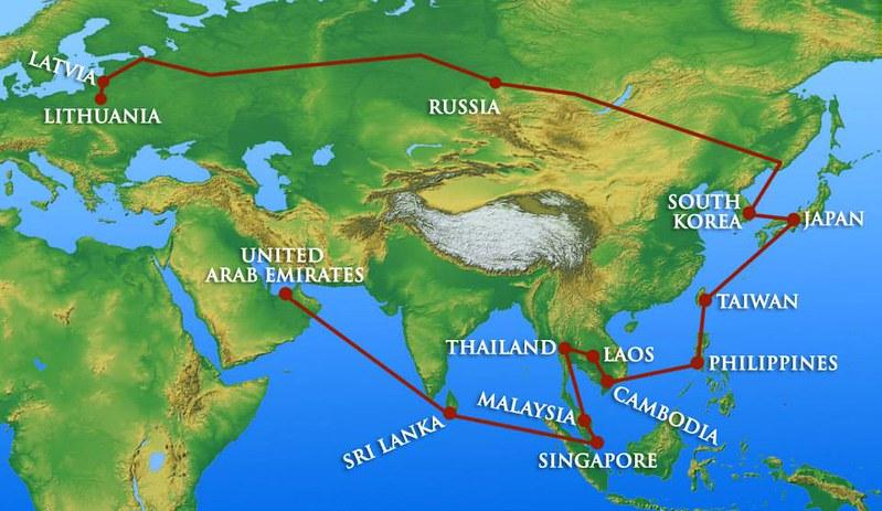 Mapa-itinerario-siete-meses
