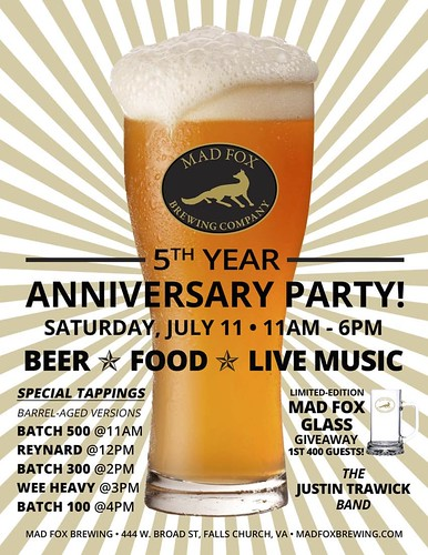 Mad Fox Brewing celebrates its 5th anniversary