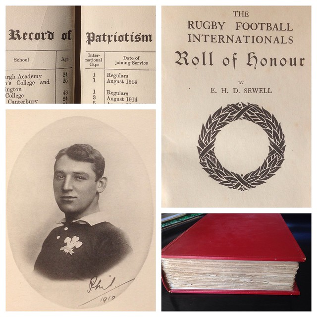 "E.H.D.Sewell ""the Rugby Football Internationals Roll of Honour"" 1919"