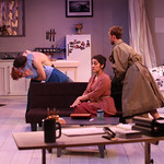 """""""Good on Paper"""" Photo Credit: John Gary Brown 2015 - Pictured L-R: Caitlin Wise (Peg), John DiAntonio (Guy), Mehry Eslaminia (Sandy) and Brian Kusic (Rich)"""