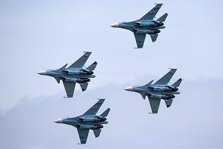 "Su-27, Su-30SM, aerobatic team ""Falcons of Russia"""
