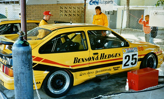 Tony Longhurst's Ford Sierra Cosworth RS500 at the Australian Touring Car round, Barbagallo Raceway, Wanneroo, Western Australia