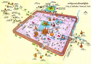 Mapa-turistico-Ayutthaya-Tailandia