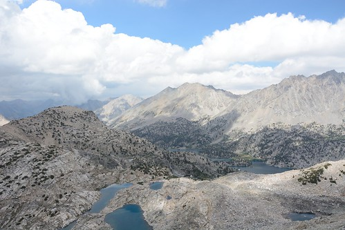 Looking Down at Rae Lakes