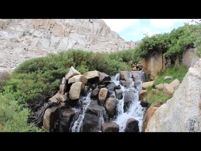 0652 Video of the Waterfall on the outflow stream from Cottonwood Lake number 4