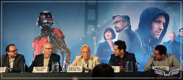 The Establishing Shot: GENTLEMAN MICHAEL DOUGLAS EVANGELINE LILY'S ABSENCE @ THE ANT-MAN EUROPEAN PRESS CONFERENCE - CORINTHIA HOTEL LONDON