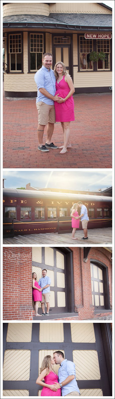 New Hope Train Station Bucks County Maternity Photographs | WonderlandPortrait.com