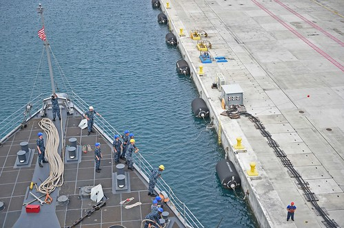 USS Ashland back to sea after port visit in Guam