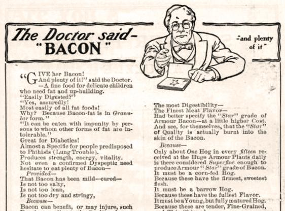 vintage ad for bacon