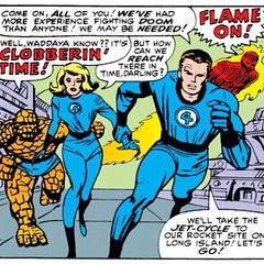 Flame On AND Clobberin' Time ... together! #comics